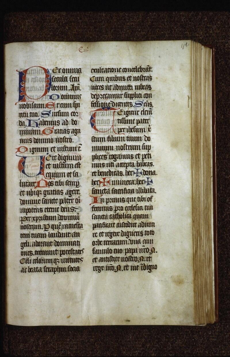 Lyon, Bibl. mun., ms. 0526, f. 112 - vue 2