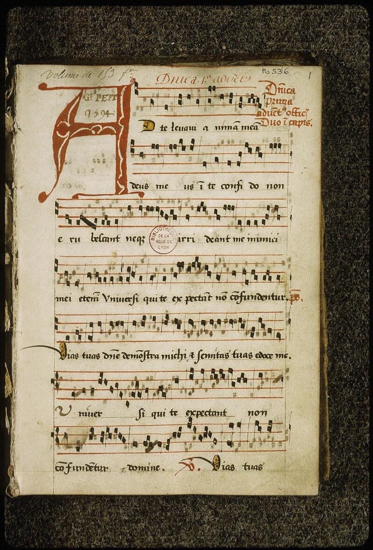Lyon, Bibl. mun., ms. 0536, f. 001 - vue 2