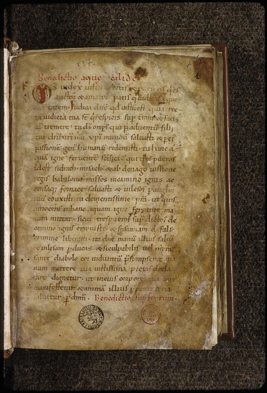 Lyon, Bibl. mun., ms. 0537, f. 001 - vue 2