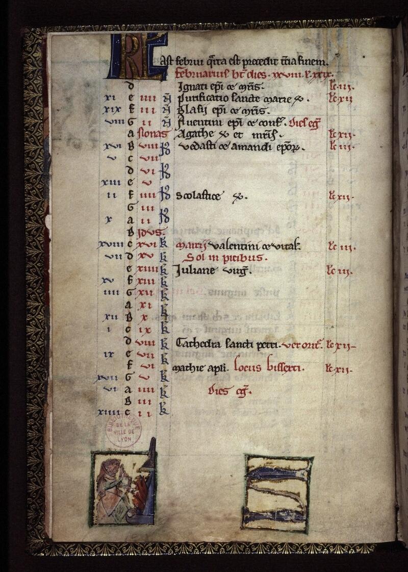 Lyon, Bibl. mun., ms. 0539, f. 002v - vue 1