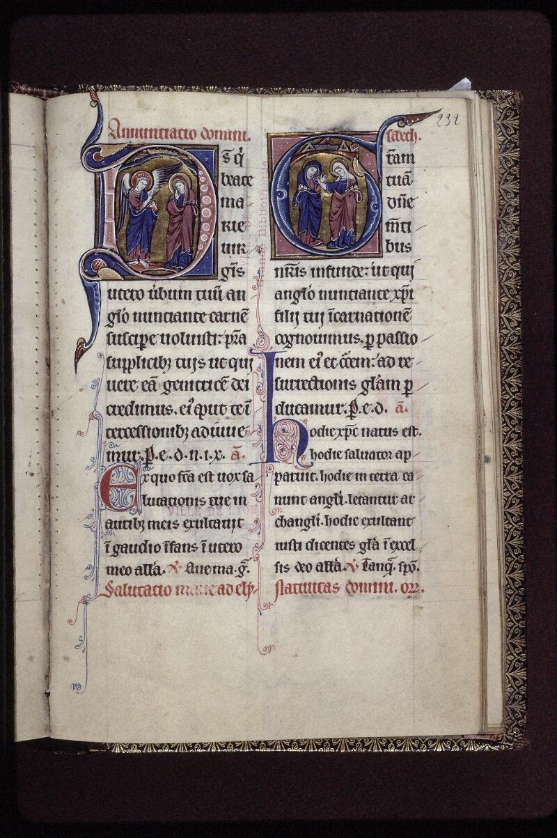 Lyon, Bibl. mun., ms. 0539, f. 232 - vue 1