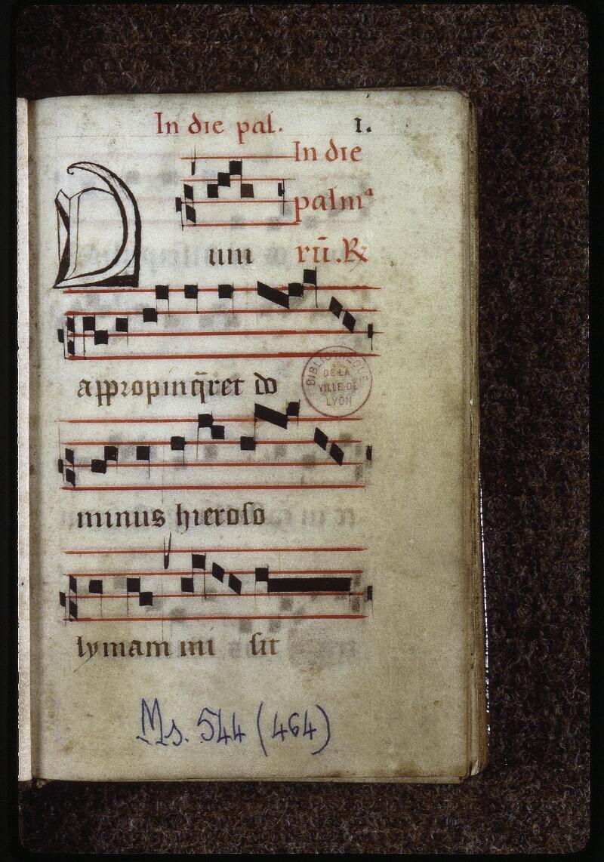 Lyon, Bibl. mun., ms. 0544, f. 001 - vue 2