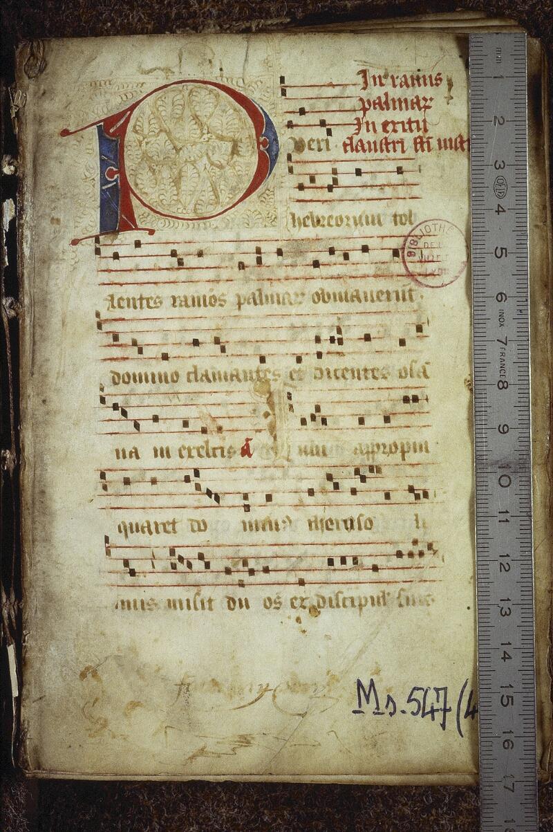 Lyon, Bibl. mun., ms. 0547, f. 001 - vue 1