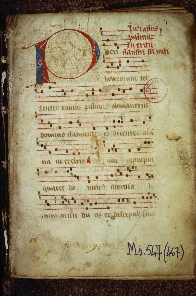 Lyon, Bibl. mun., ms. 0547, f. 001 - vue 2