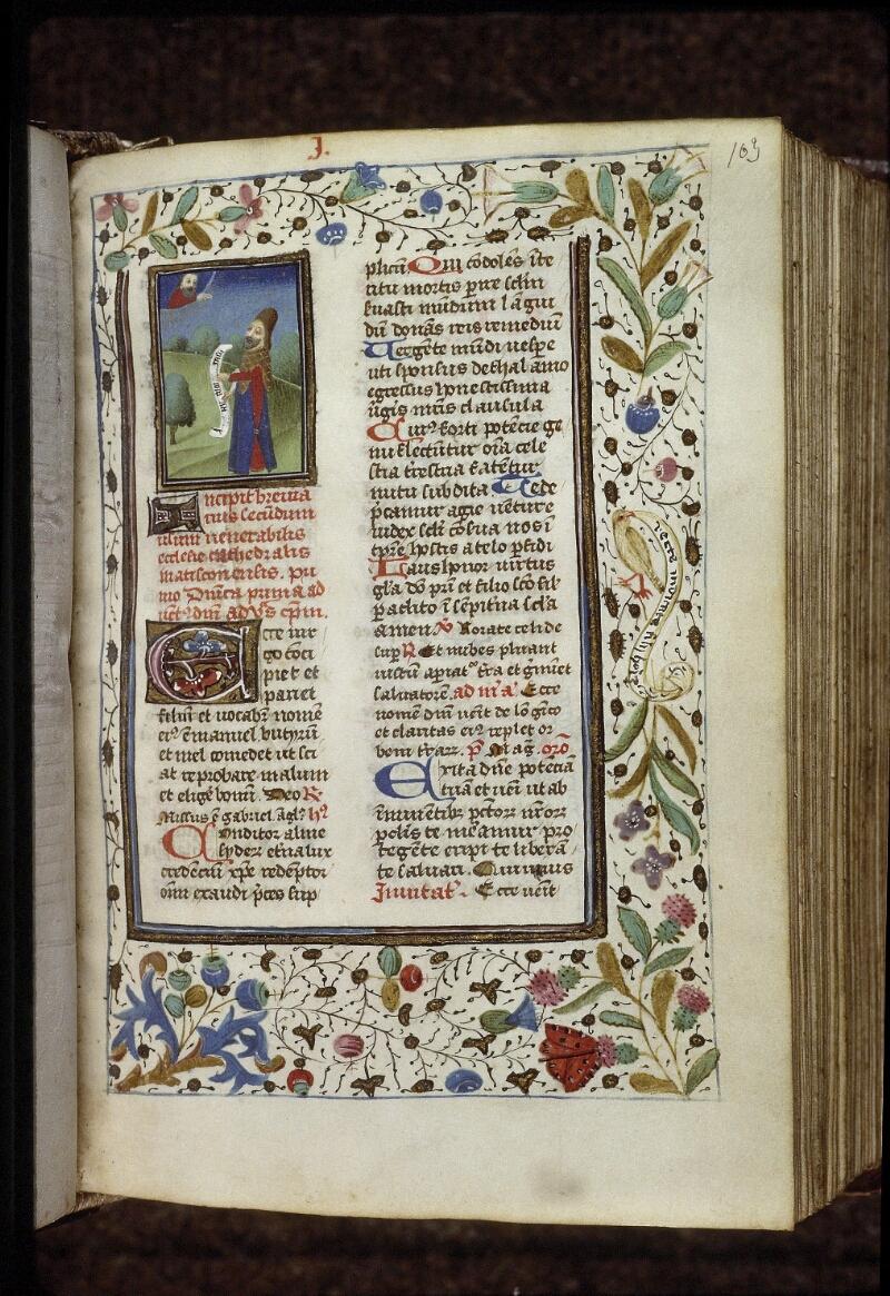 Lyon, Bibl. mun., ms. 0559, f. 103 - vue 1