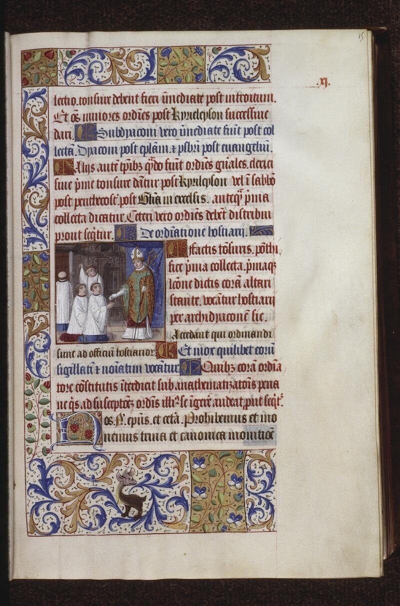 Lyon, Bibl. mun., ms. 0565, f. 015 - vue 1