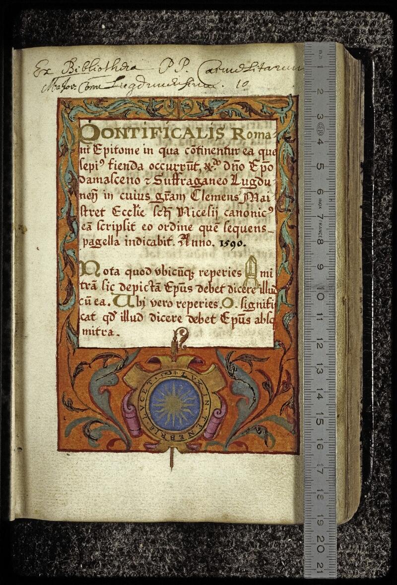 Lyon, Bibl. mun., ms. 0567, f. 009 - vue 1