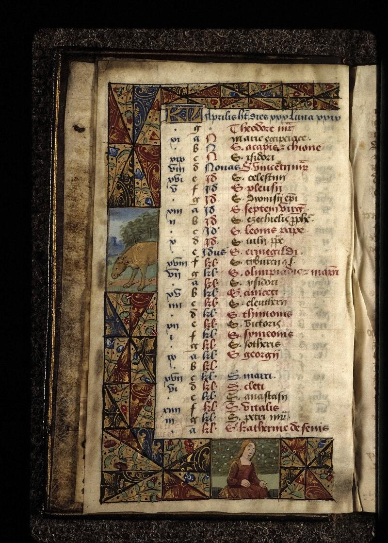 Lyon, Bibl. mun., ms. 0572, f. 005v - vue 1