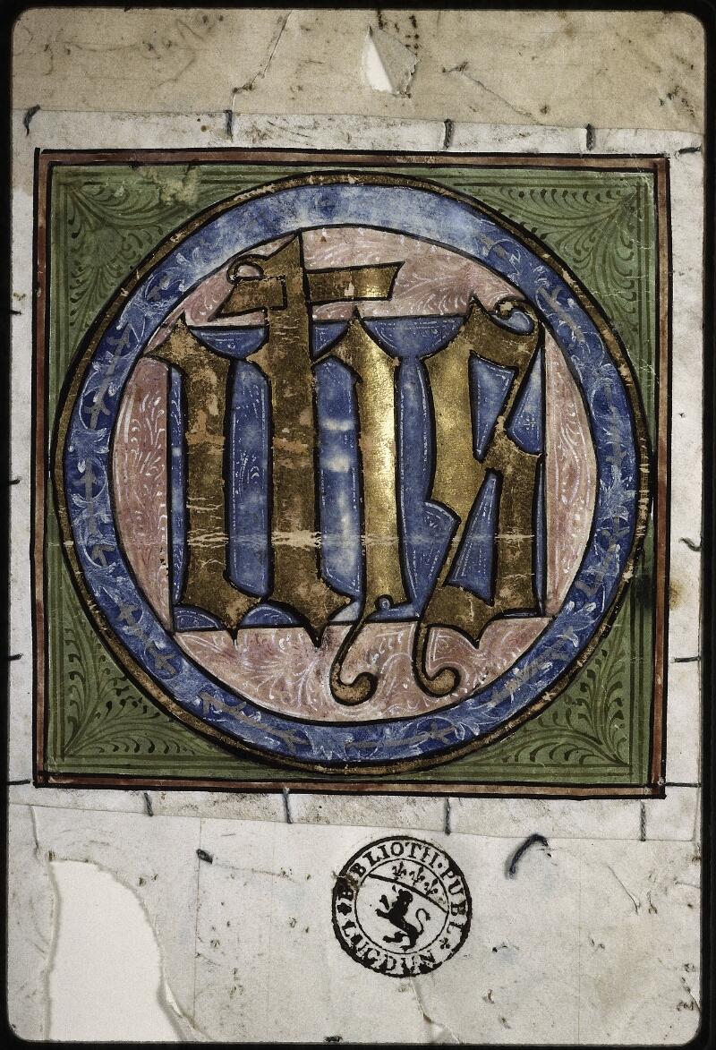 Lyon, Bibl. mun., ms. 0574, f. 000I - vue 2