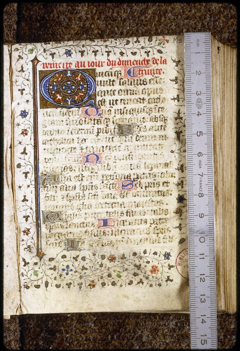 Lyon, Bibl. mun., ms. 0578, f. 002 - vue 1