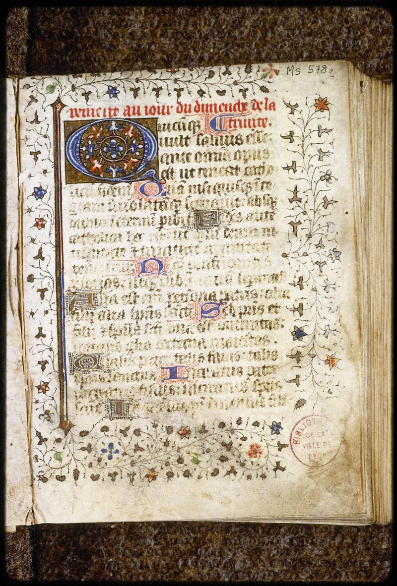 Lyon, Bibl. mun., ms. 0578, f. 002 - vue 2