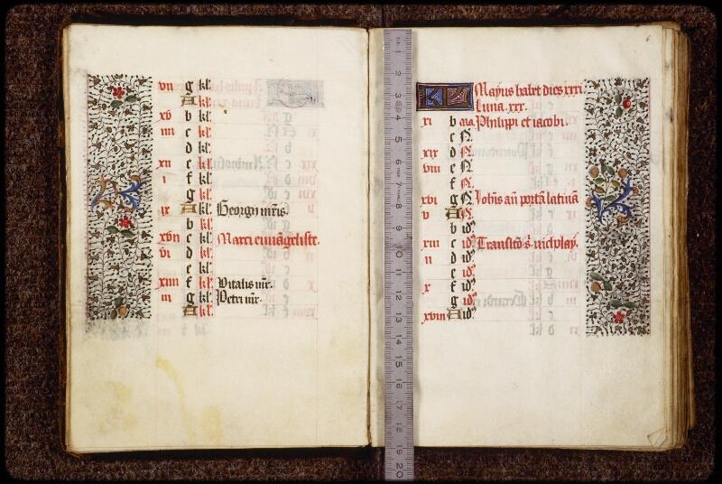 Lyon, Bibl. mun., ms. 0580, f. 005v-006 - vue 1