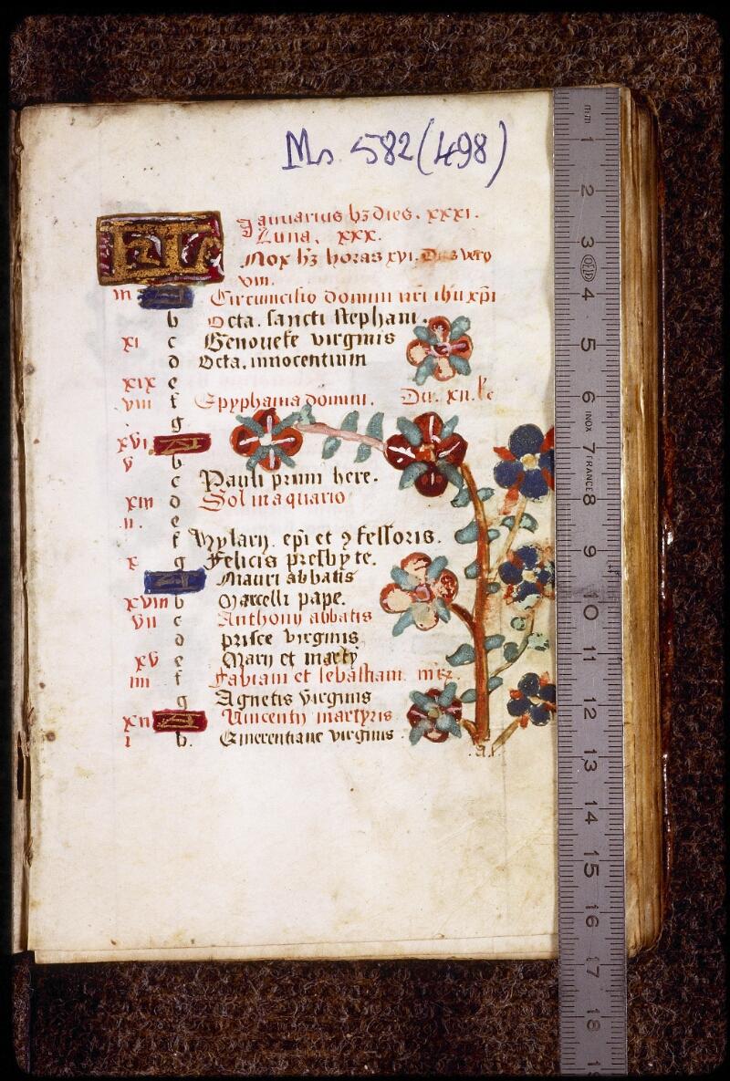 Lyon, Bibl. mun., ms. 0582, f. 012 - vue 1