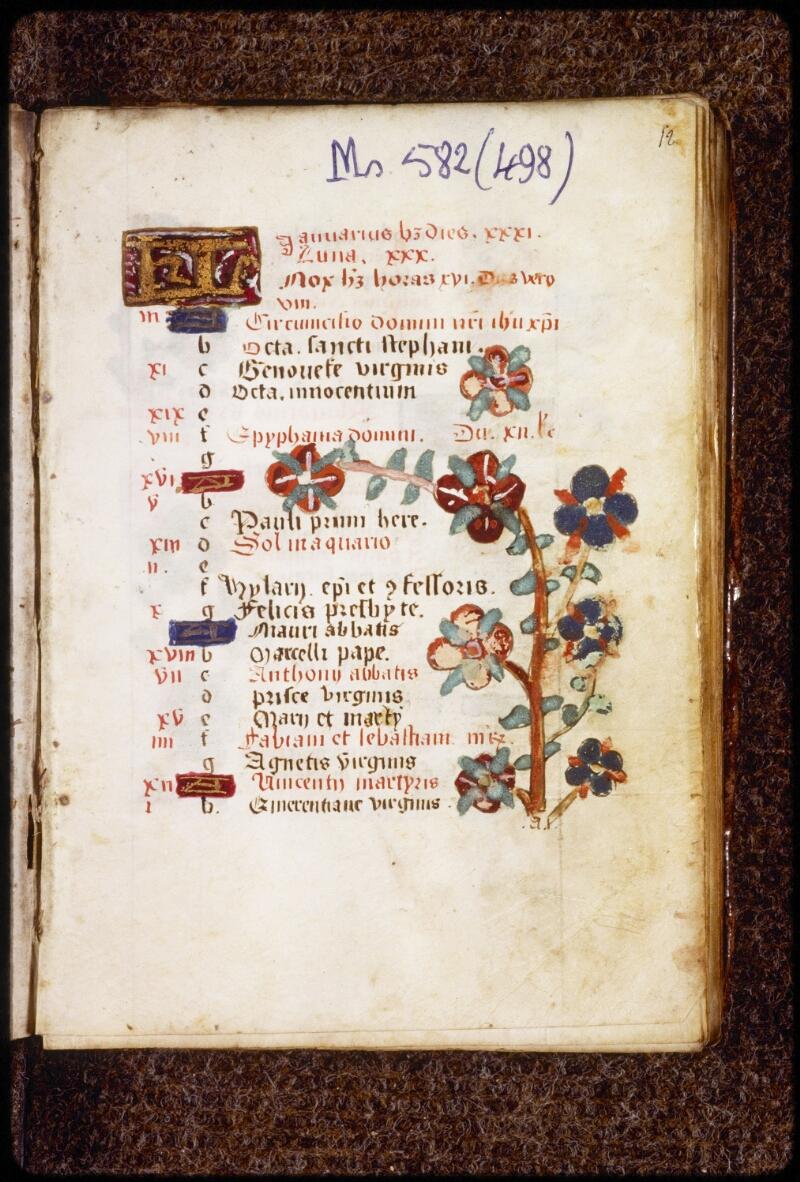 Lyon, Bibl. mun., ms. 0582, f. 012 - vue 2
