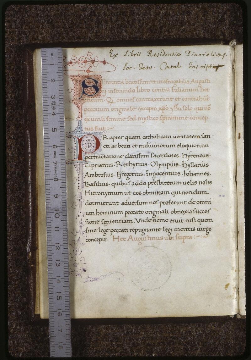Lyon, Bibl. mun., ms. 0596, f. 002v - vue 1