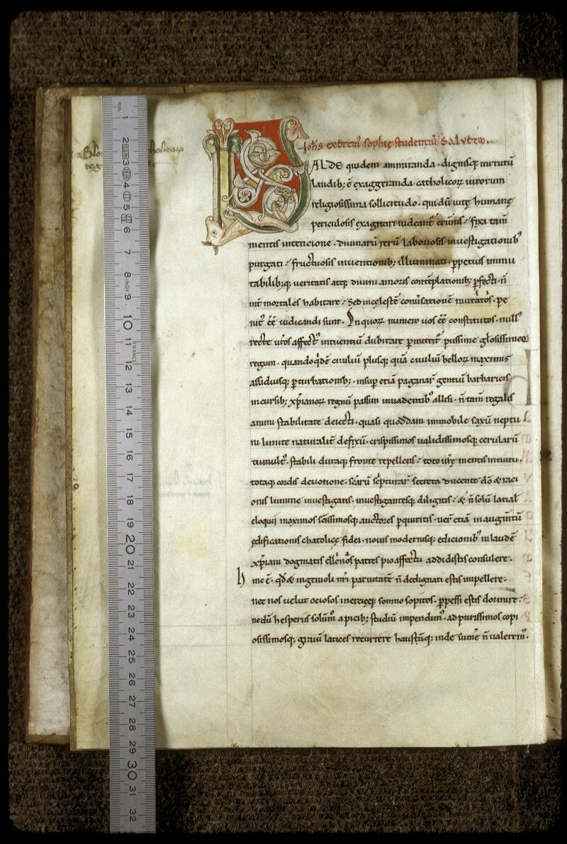 Lyon, Bibl. mun., ms. 0598, f. 003v - vue 1