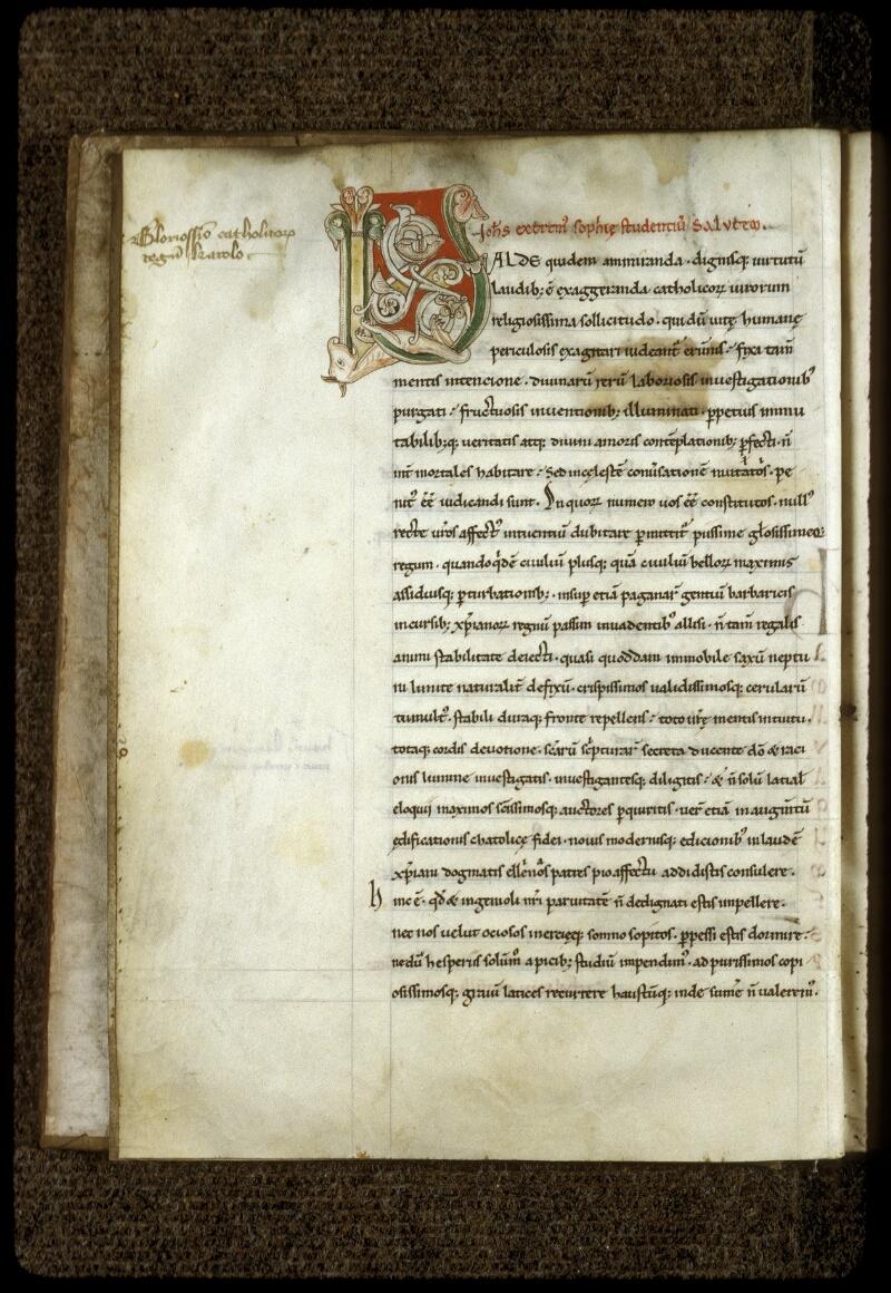 Lyon, Bibl. mun., ms. 0598, f. 003v - vue 2