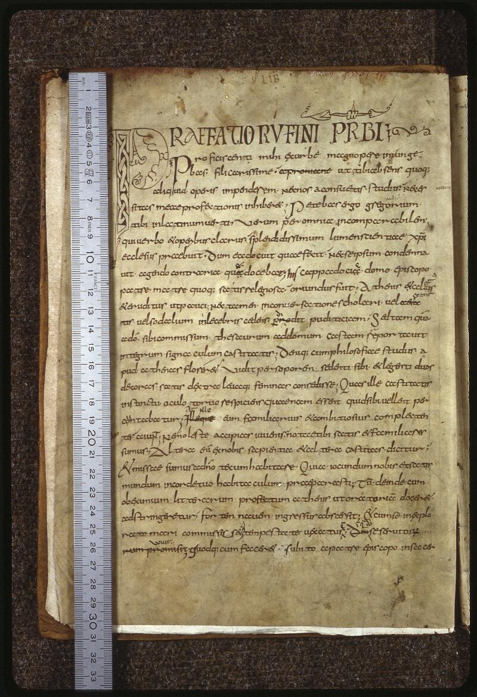 Lyon, Bibl. mun., ms. 0599, f. 001v - vue 1