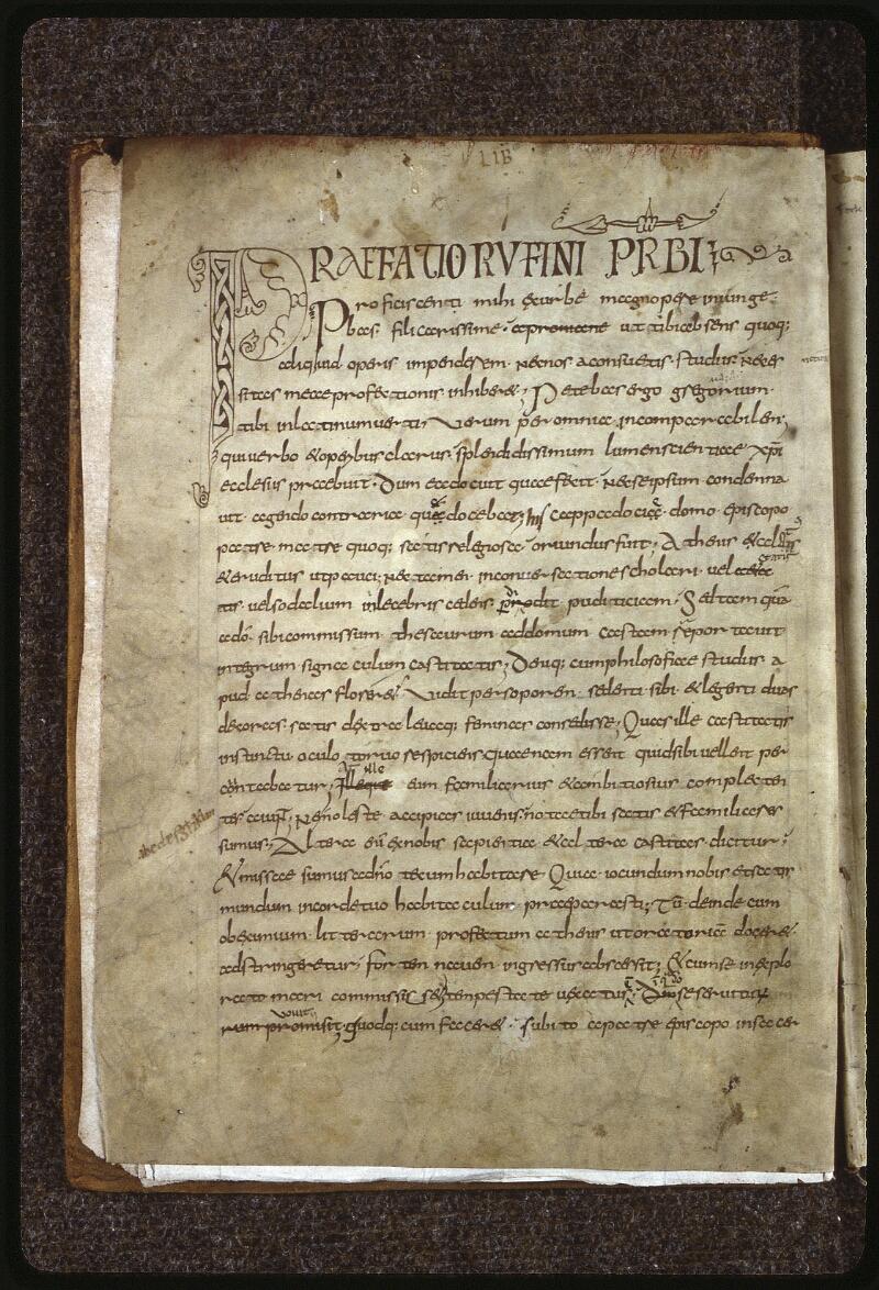 Lyon, Bibl. mun., ms. 0599, f. 001v - vue 2