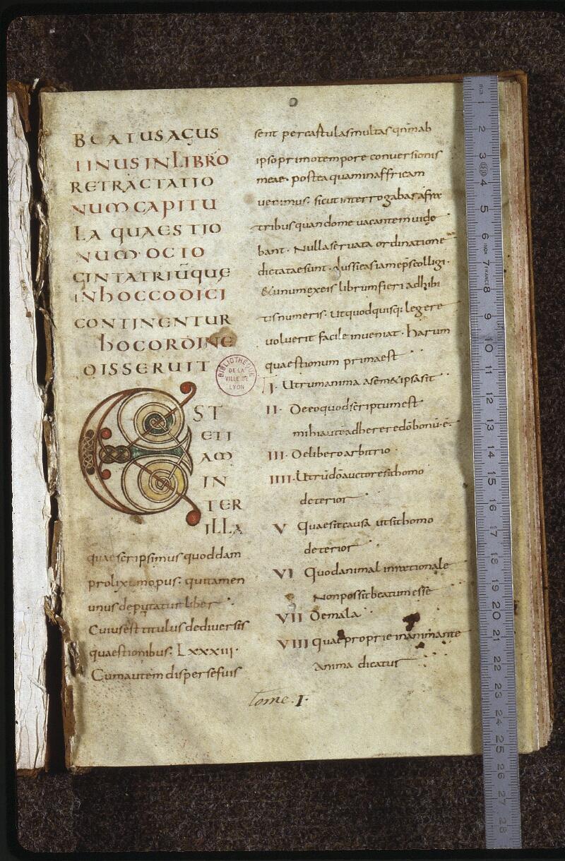 Lyon, Bibl. mun., ms. 0612, f. 001 - vue 1