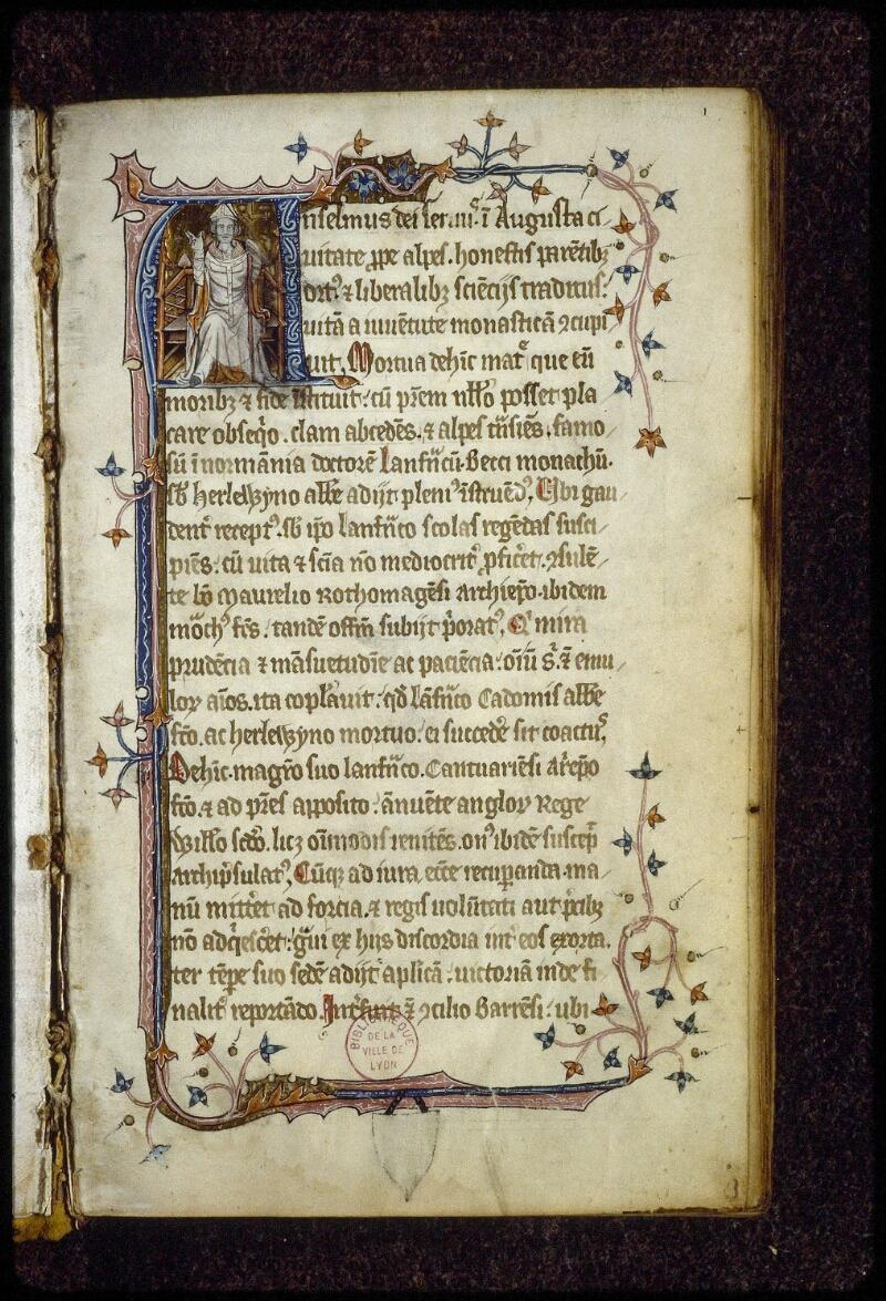 Lyon, Bibl. mun., ms. 0622, f. 001 - vue 2