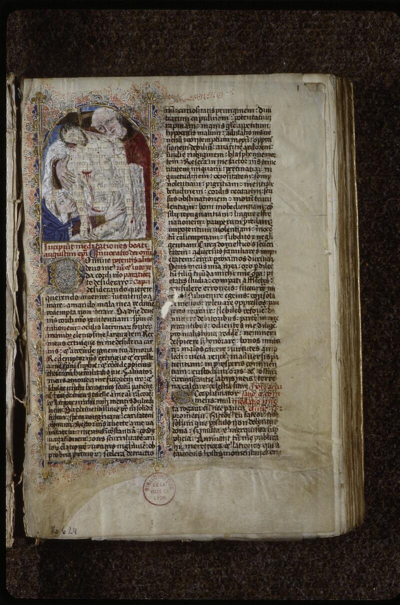 Lyon, Bibl. mun., ms. 0624, f. 001 - vue 2