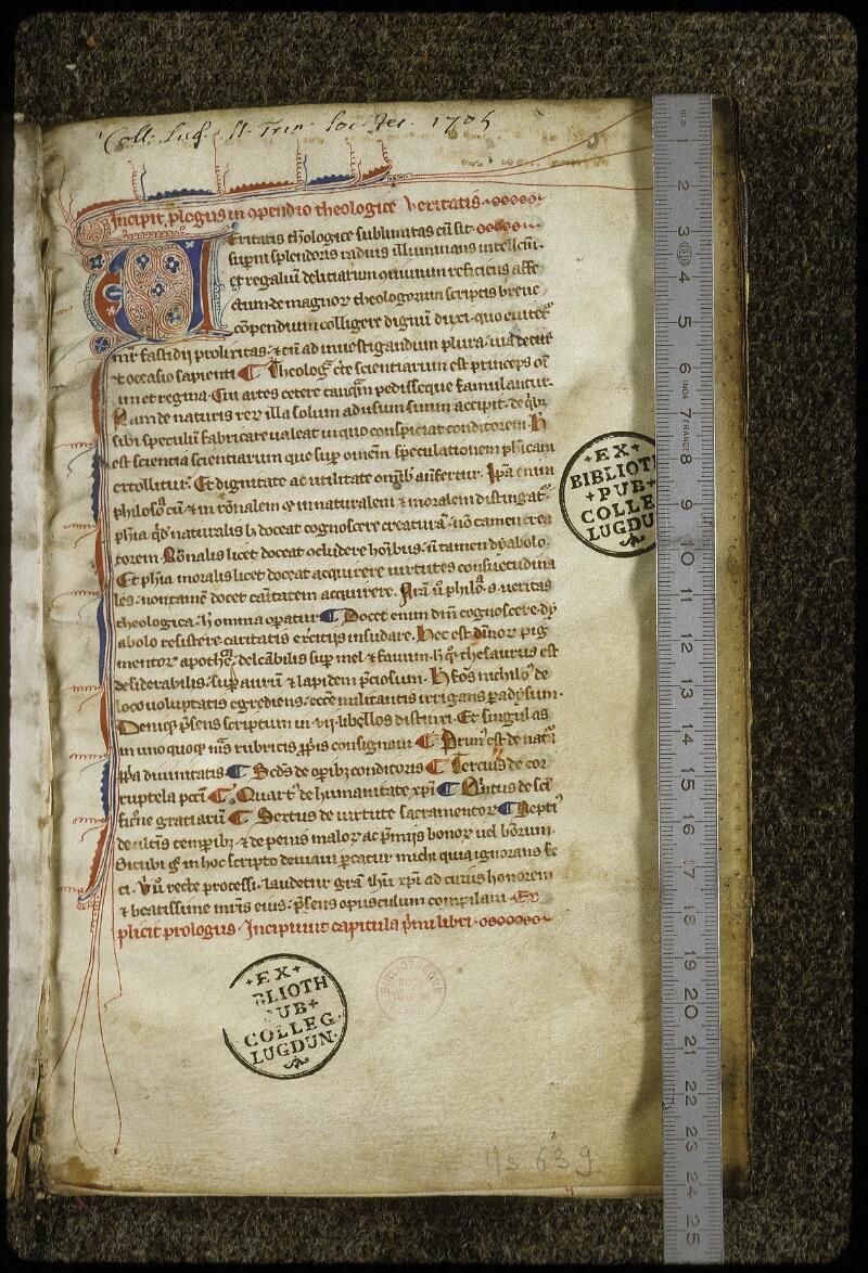 Lyon, Bibl. mun., ms. 0639, f. 001 - vue 1