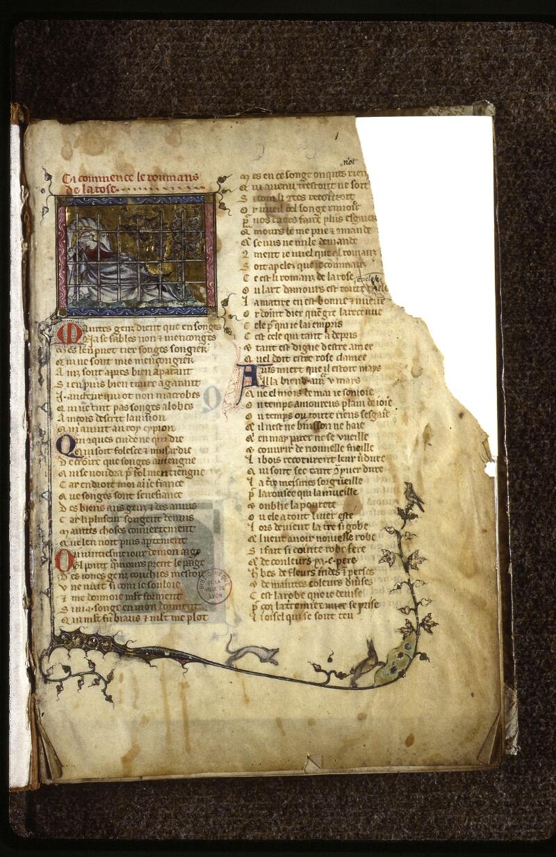 Lyon, Bibl. mun., ms. 0763, f. 001 - vue 2