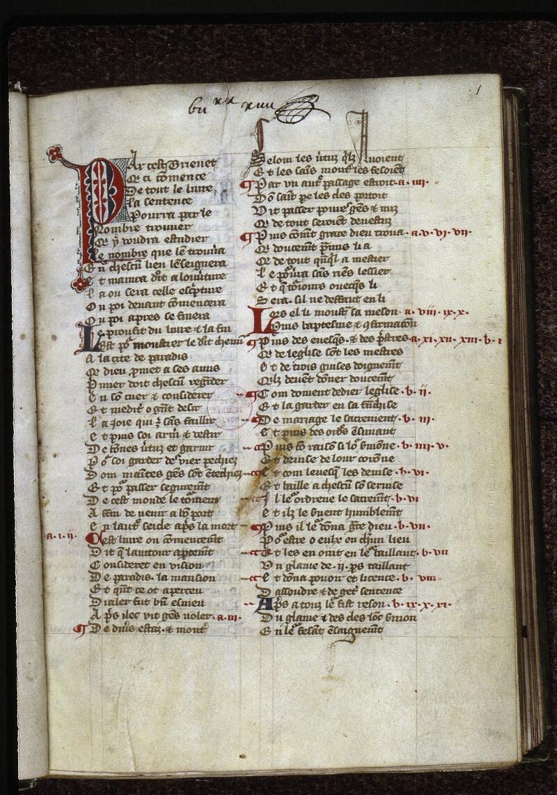 Lyon, Bibl. mun., ms. 0768, f. 001 - vue 2