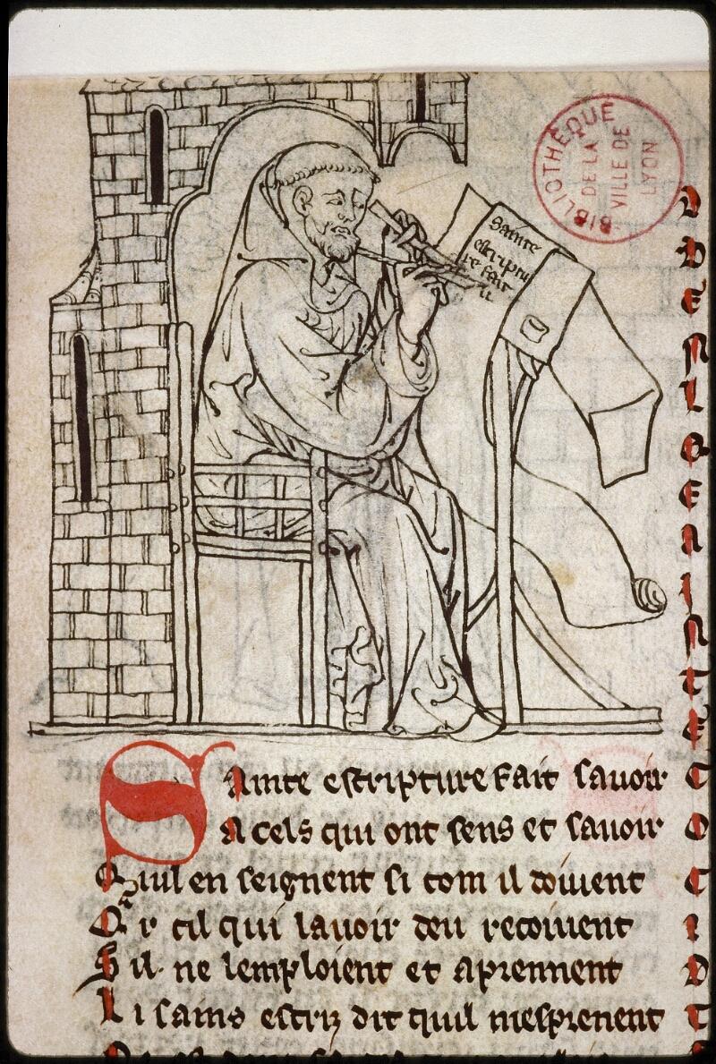 Lyon, Bibl. mun., ms. 0868, f. 001 - vue 3