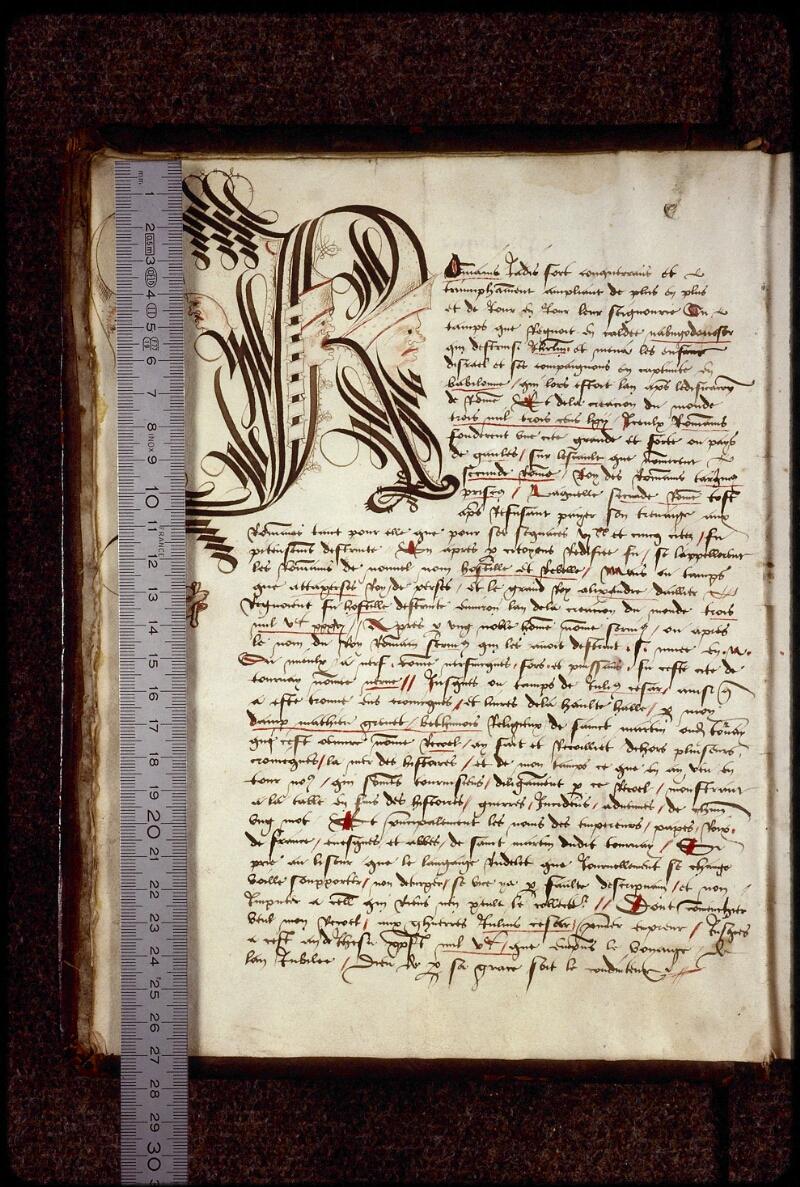 Lyon, Bibl. mun., ms. 0879, f. 001v - vue 1