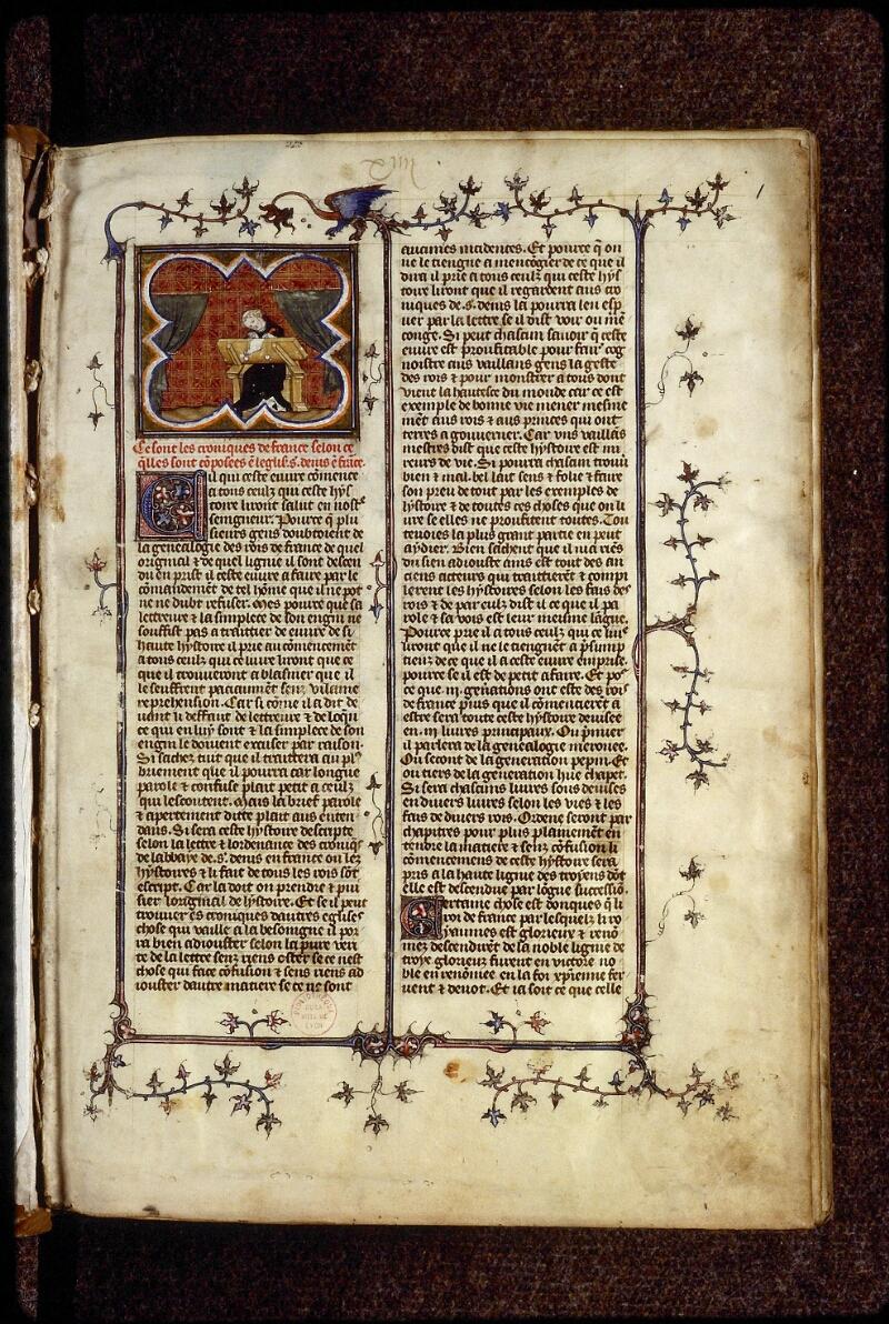 Lyon, Bibl. mun., ms. 0880, f. 001 - vue 2