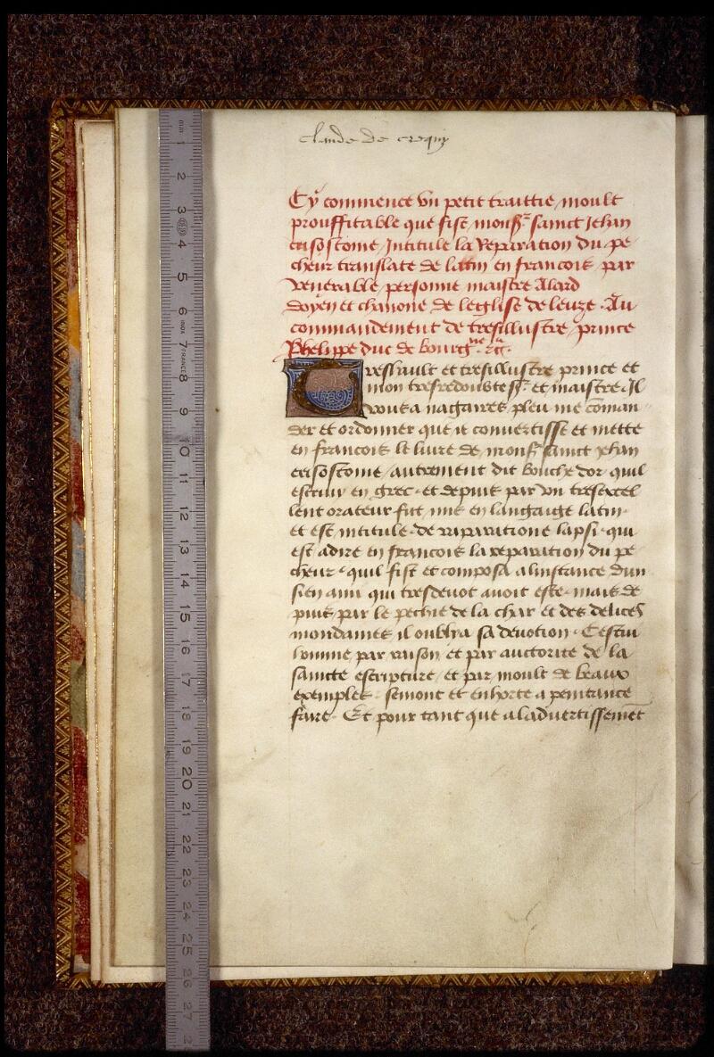 Lyon, Bibl. mun., ms. 1233, f. 001v - vue 1