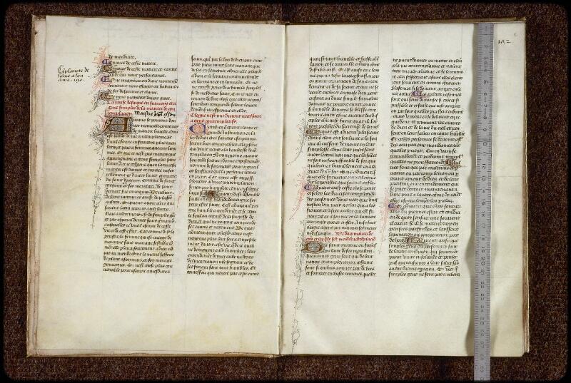 Lyon, Bibl. mun., ms. 1249, f. 001v-002 - vue 1