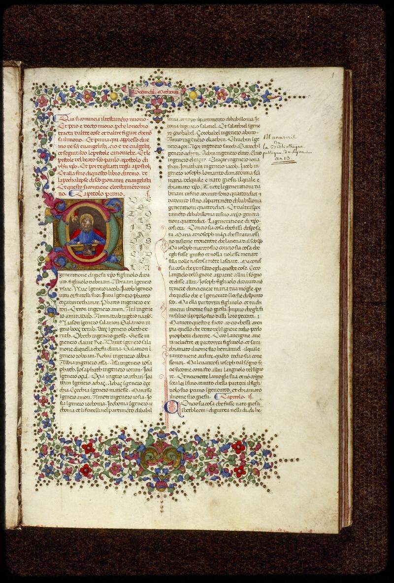 Lyon, Bibl. mun., ms. 1368, f. 001 - vue 2