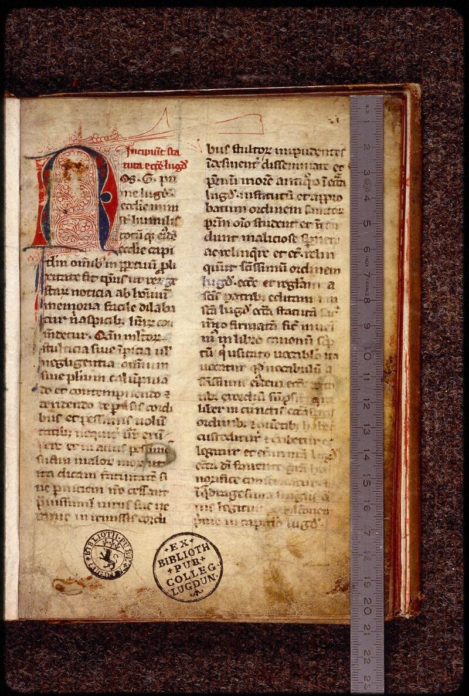 Lyon, Bibl. mun., ms. 1387, f. 001 - vue 1