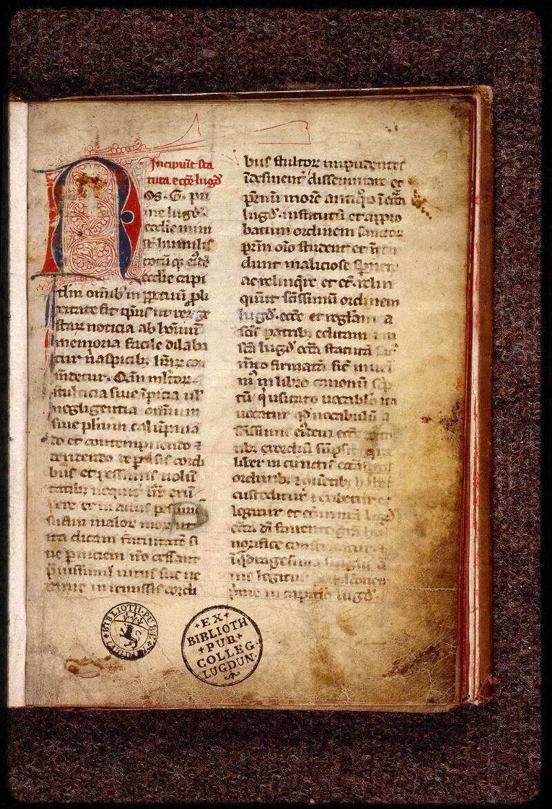 Lyon, Bibl. mun., ms. 1387, f. 001 - vue 2