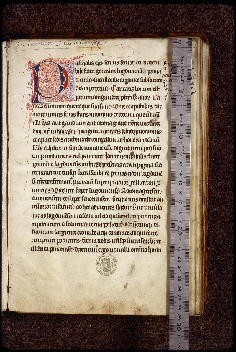Lyon, Bibl. mun., ms. 1388, f. 001 - vue 1