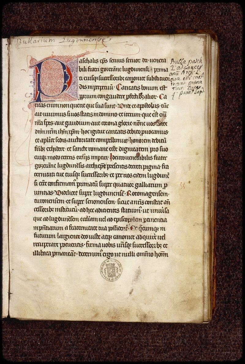 Lyon, Bibl. mun., ms. 1388, f. 001 - vue 2