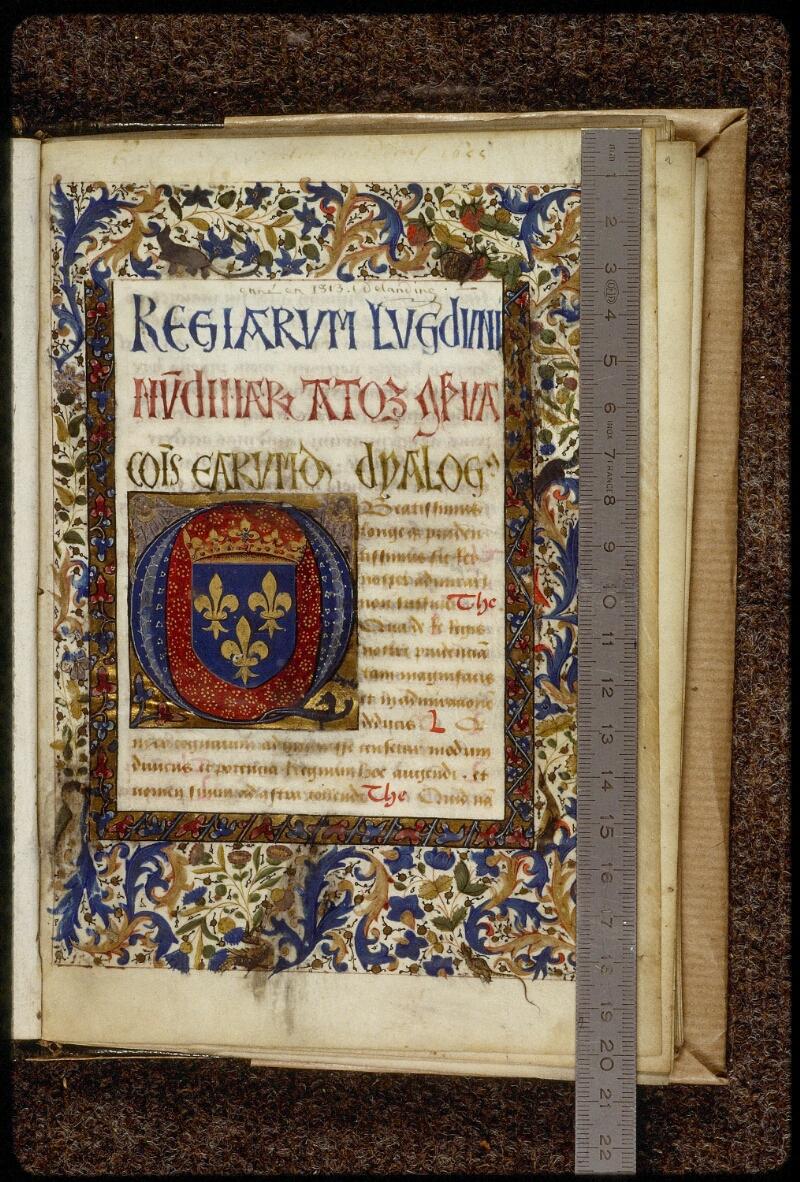 Lyon, Bibl. mun., ms. 1466, f. 001 - vue 1