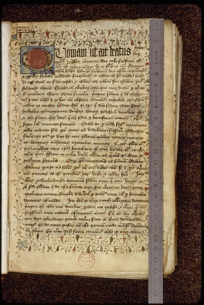 Lyon, Bibl. mun., ms. 1512, f. 001 - vue 1