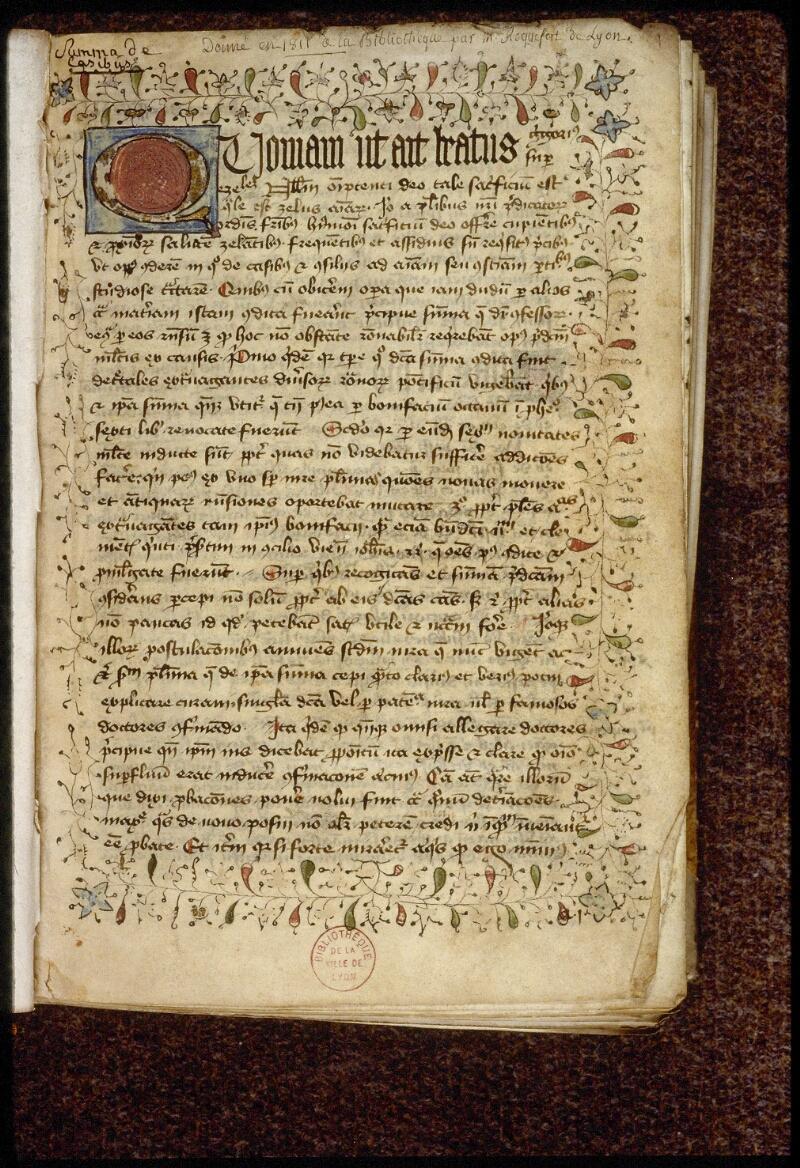 Lyon, Bibl. mun., ms. 1512, f. 001 - vue 2