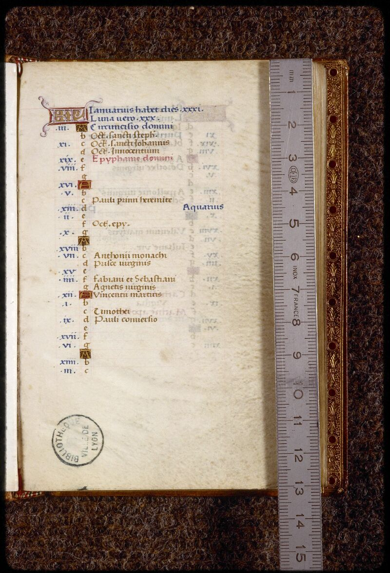 Lyon, Bibl. mun., ms. 1558, f. 001 - vue 1