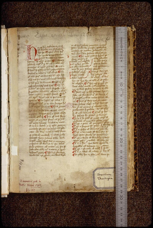 Lyon, Bibl. mun., ms. 1658, f. 001 - vue 1