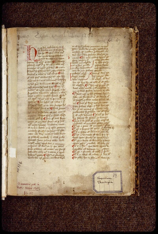 Lyon, Bibl. mun., ms. 1658, f. 001 - vue 2