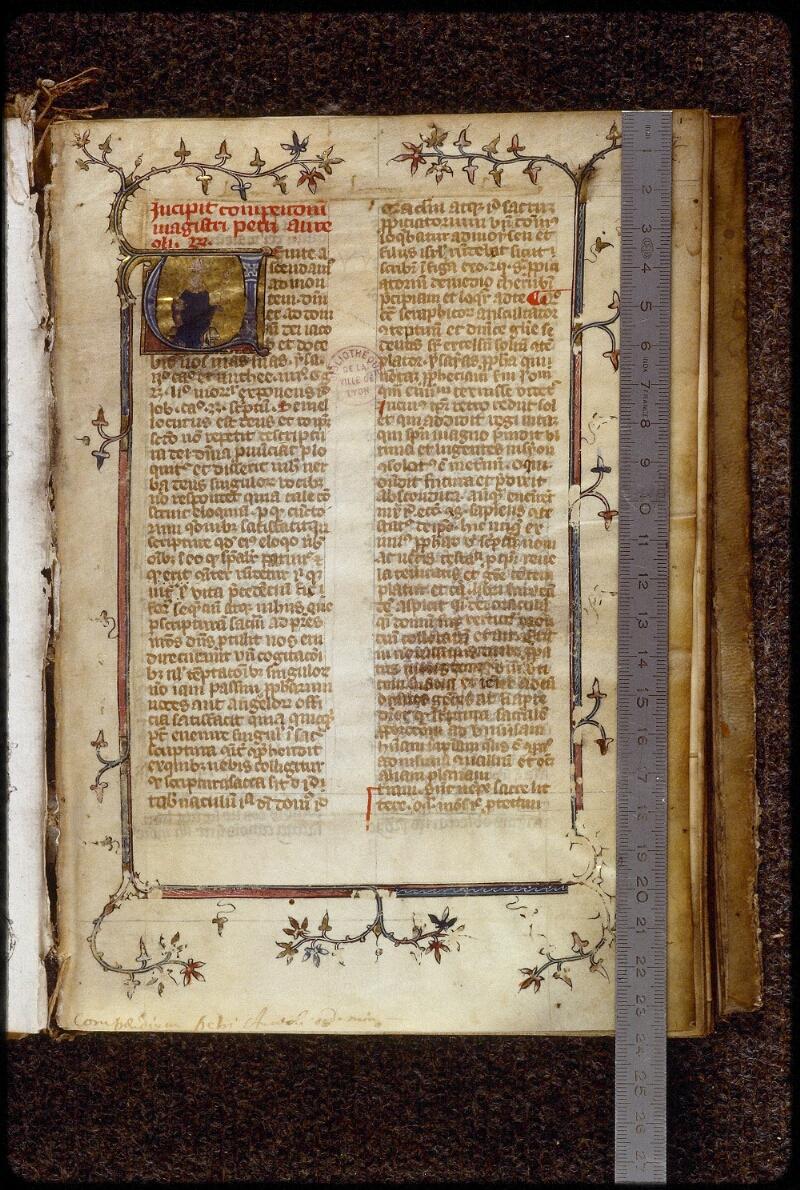 Lyon, Bibl. mun., ms. 1659, f. 001 - vue 1