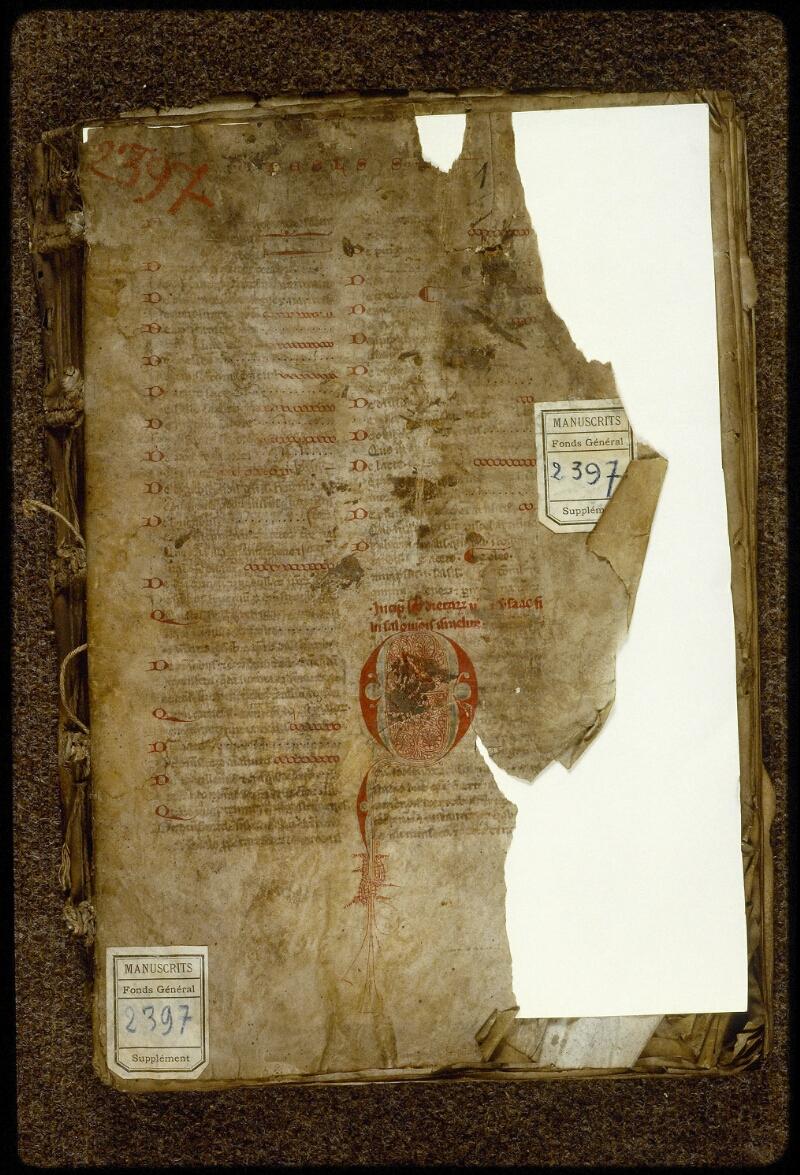 Lyon, Bibl. mun., ms. 2397, f. 001 - vue 2