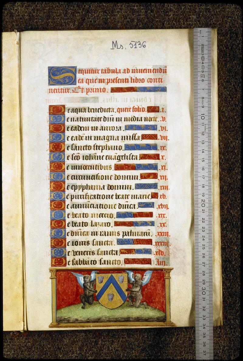 Lyon, Bibl. mun., ms. 5136, f. 000A - vue 1