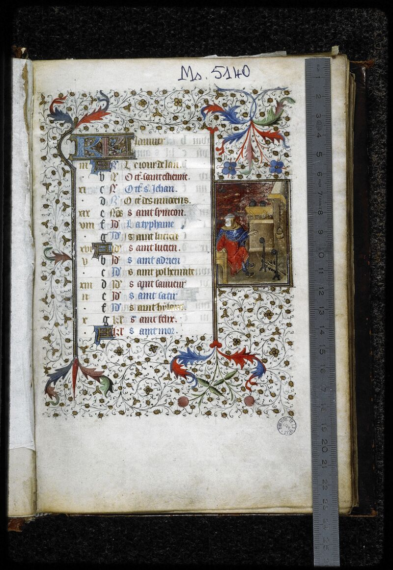 Lyon, Bibl. mun., ms. 5140, f. 002 - vue 1