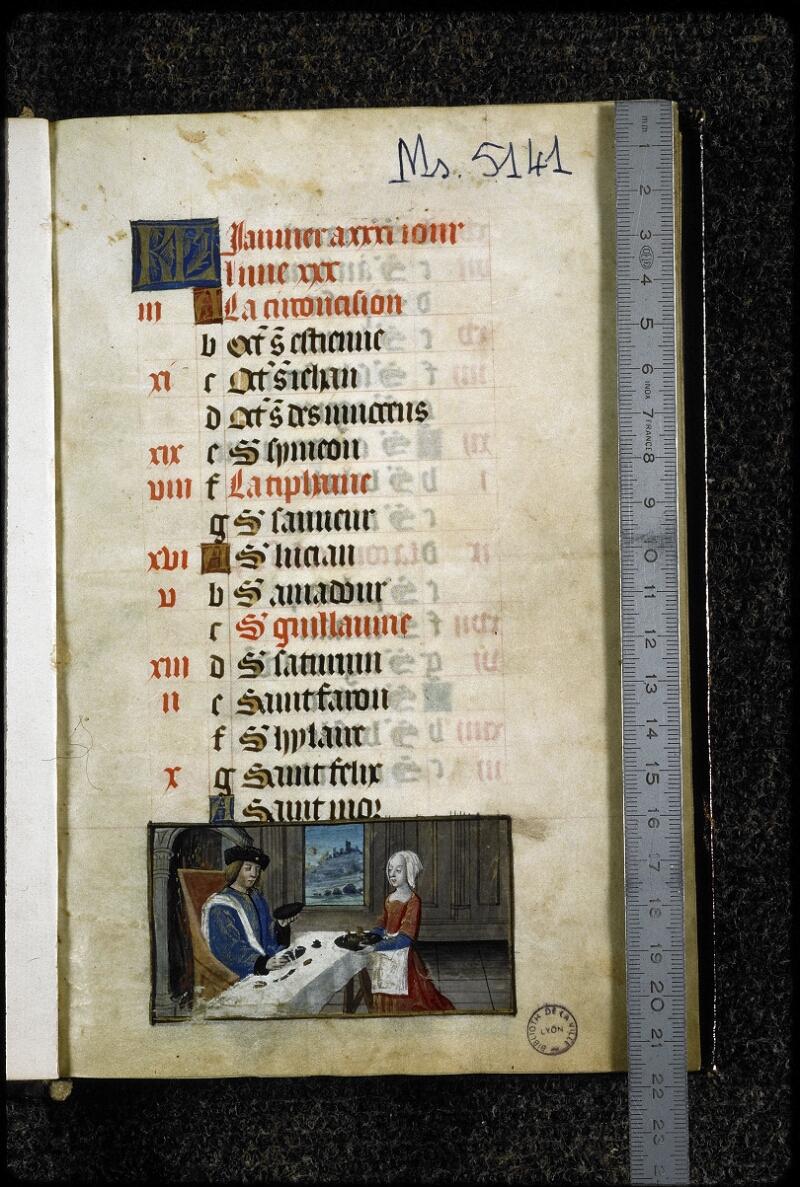 Lyon, Bibl. mun., ms. 5141, f. 001 - vue 1